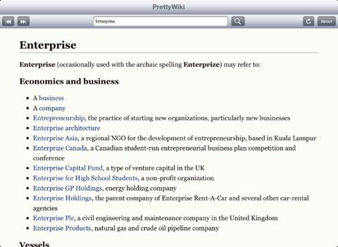 PrettyWiki strips Wikipedia of unnecessary formatting to make reading it on iPads much more pleasant.